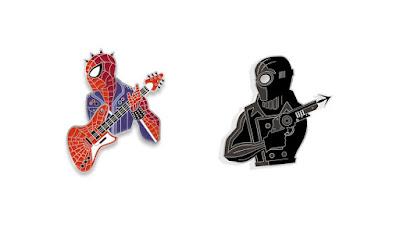 Spider-Man: Into the Spider-Verse Bust'd Enamel Pins by Tom Whalen x Mondo