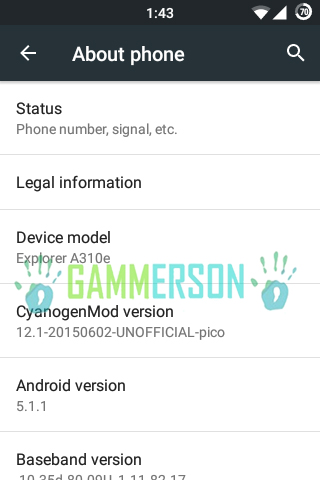 Rom] download and flash cm 12. 1 for htc explorer (pico) [5. 1. 1].
