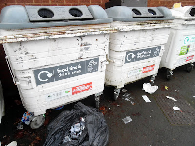 Picture: Recycling food, tins and drinks cans in Brigg - see Nigel Fisher's Brigg Blog