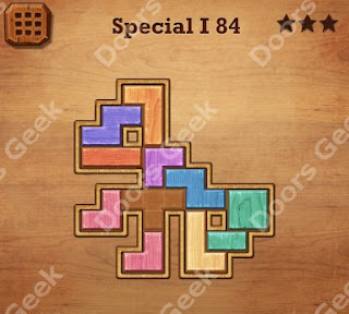 Cheats, Solutions, Walkthrough for Wood Block Puzzle Special I Level 84