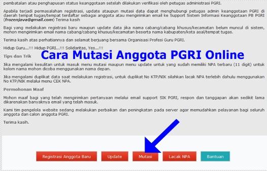 Cara Mudah Mutasi Anggota PGRI Online