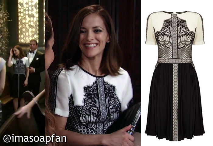 hayden barnes u0026 39 s black and white lace applique dress