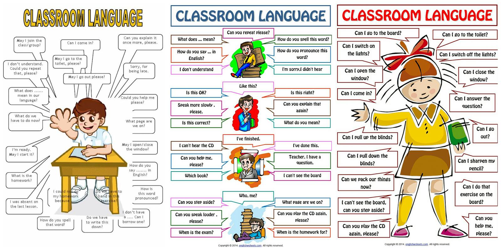 Koleksi Bahan Bantu Belajar Bbm Classroom Language For