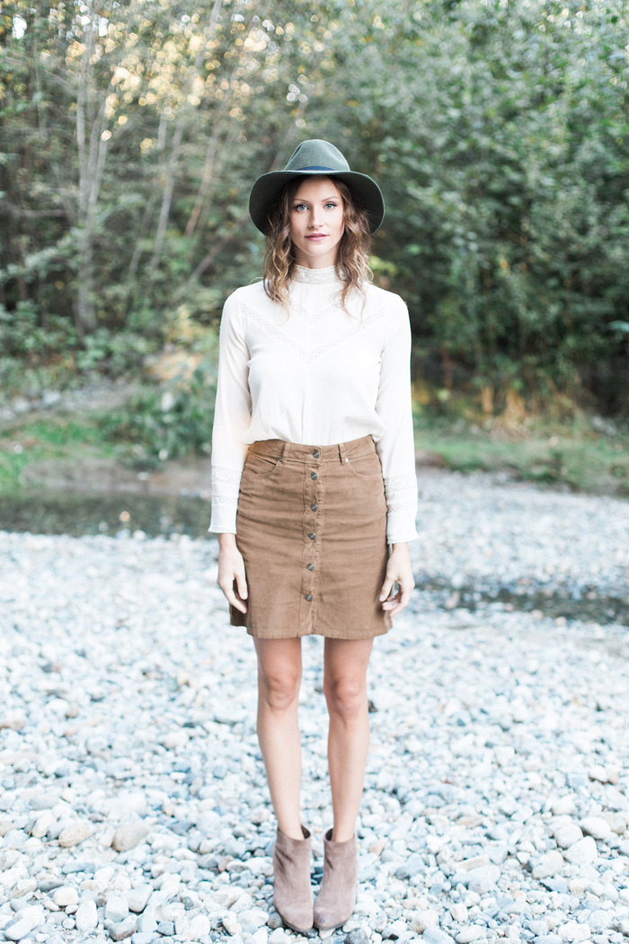 Vancouver Fashion Blogger, Alison Hutchinson, in a wearable 70's style.