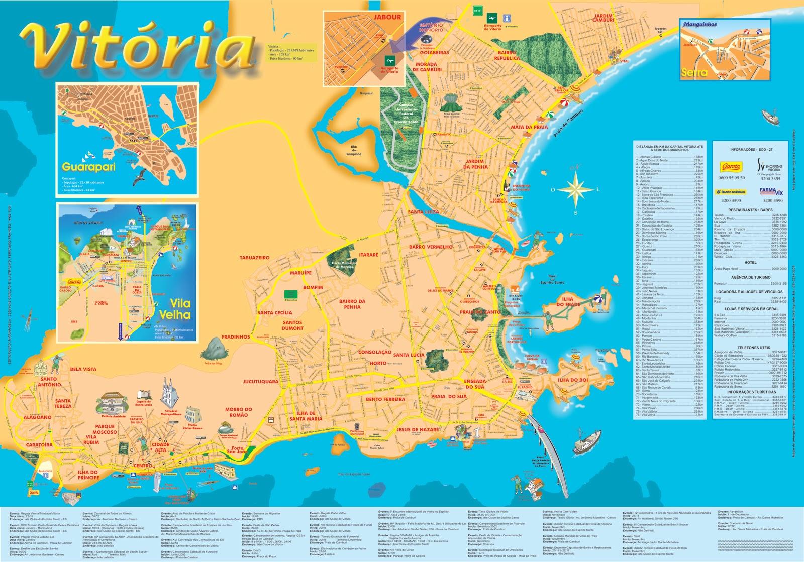 mapa da praia da vitoria Mapas de Vitória   ES | MapasBlog mapa da praia da vitoria
