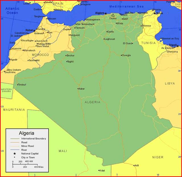 image: Algeria Map in Africa