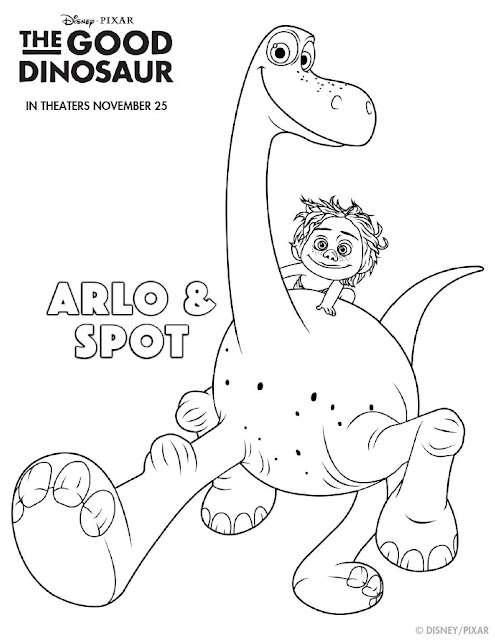 The Good Dinosaur Arlo & Spot Coloring Page