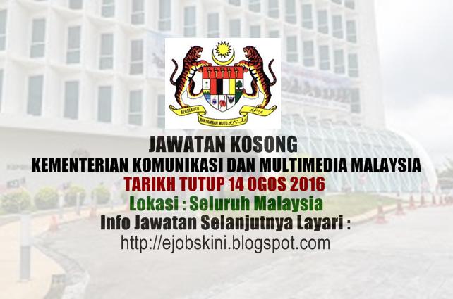 Jawatan Kosong Kementerian Komunikasi dan Multimedia Malaysia 2016