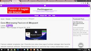 Favicon di bagian tab browser Chrome