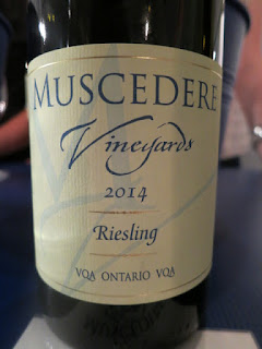 Muscadere Riesling 2014 - VQA Ontario, Canada (88 pts)