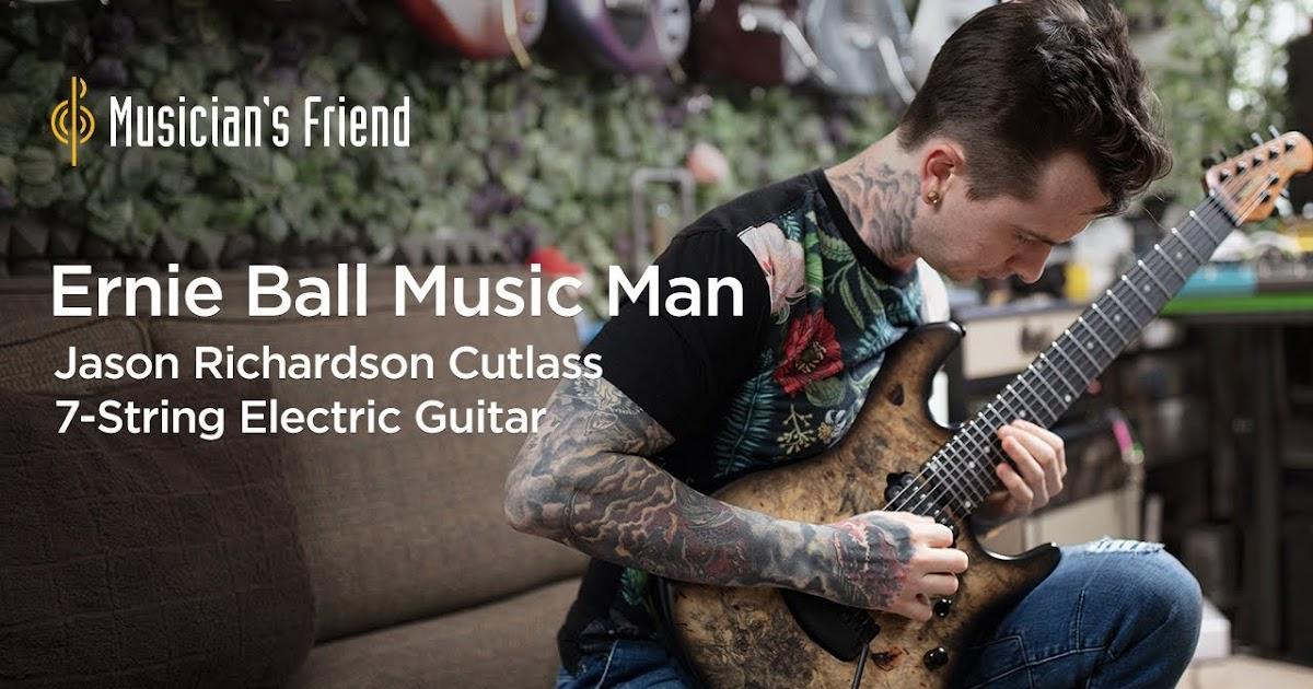 jason richardson ernie ball music man jason richardson cutlass 7 string electric guitar. Black Bedroom Furniture Sets. Home Design Ideas