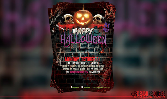 Sepooky Halloween Flyer + Facebook Cover