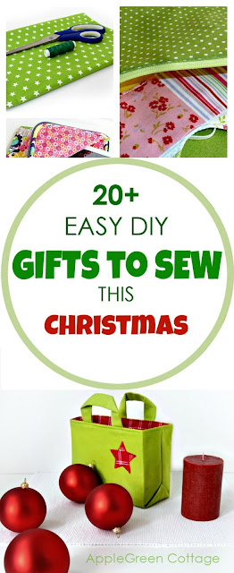 20 easy diy gifts to sew this christmas applegreen cottage 20 easy sewing tutorials will be just right for you nearly all include free solutioingenieria Images