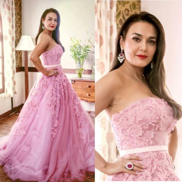 Preity Zinta in Garimon Roferos Couture