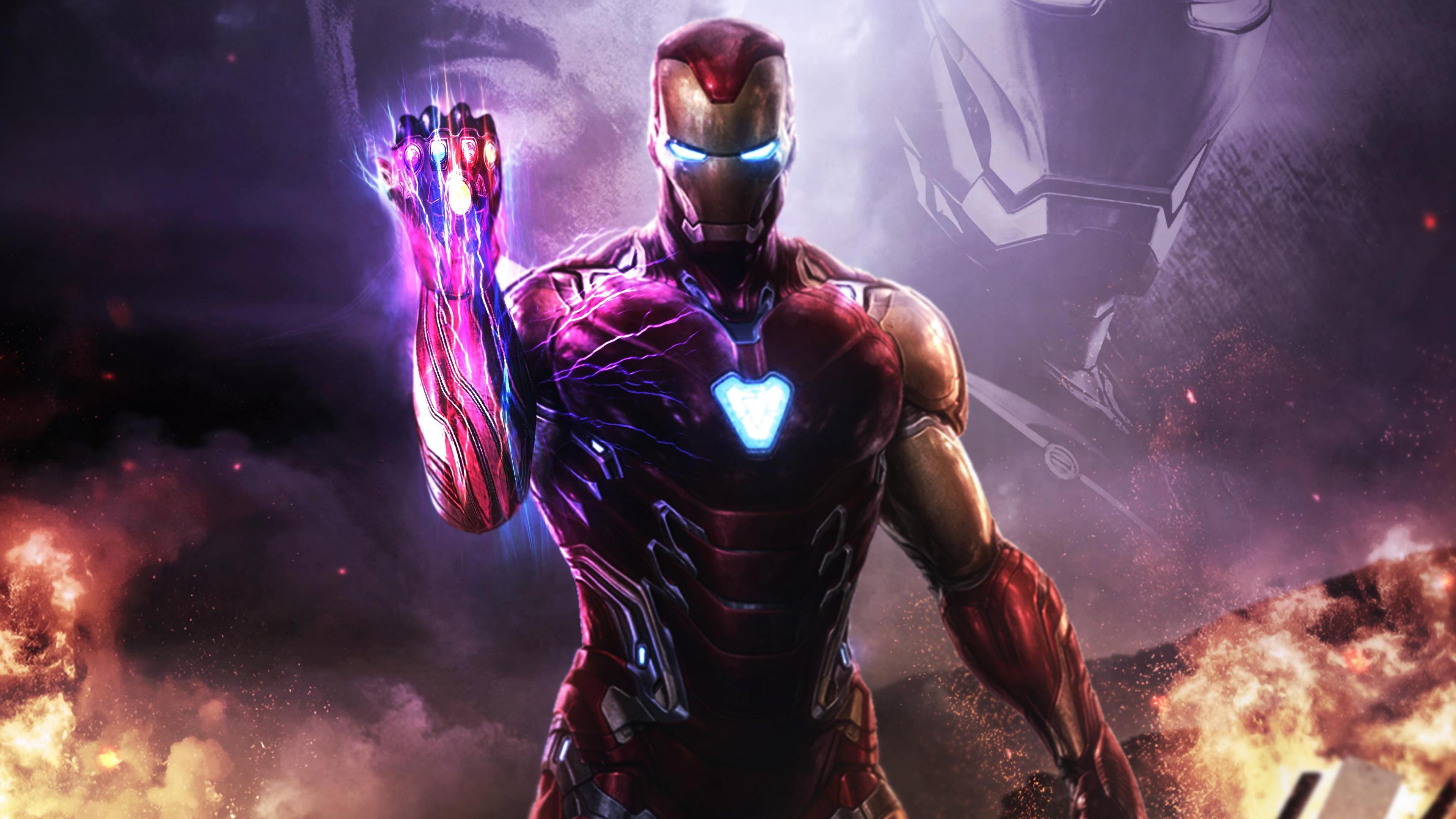 Avengers Endgame Iron Man Infinity Stones 4k Wallpaper 161