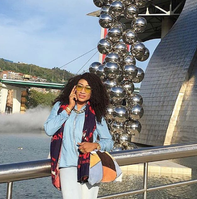 Oge Okoye dons denim on denim for outing with her kids   2