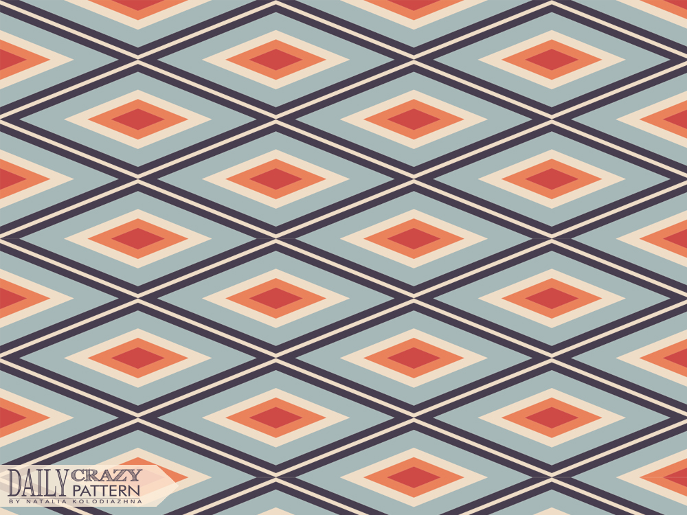 Retro pattern with rhombus