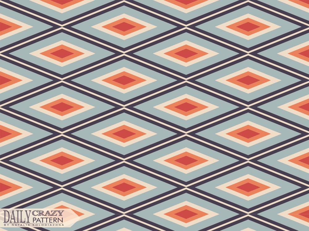 Retro pattern with rhombus