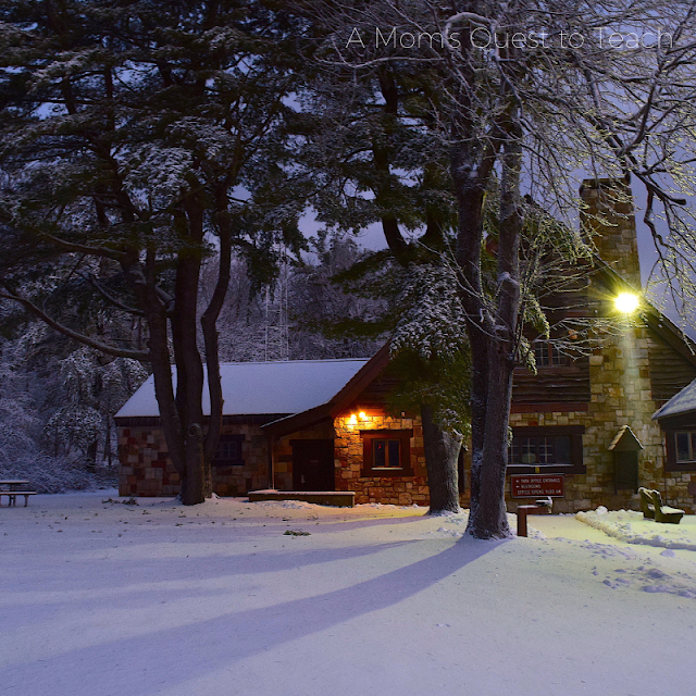 Home in winter photo prompt