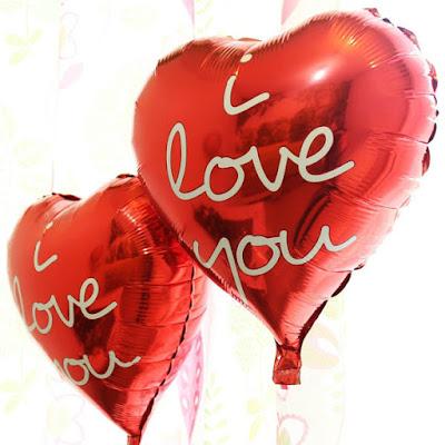 Balon Foil Hati I Love You