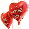 Balon Foil Hati Motif I LOVE YOU / Balon Foil I LOVE YOU (04)