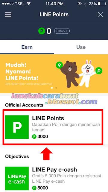 cara mendapatkan point di line