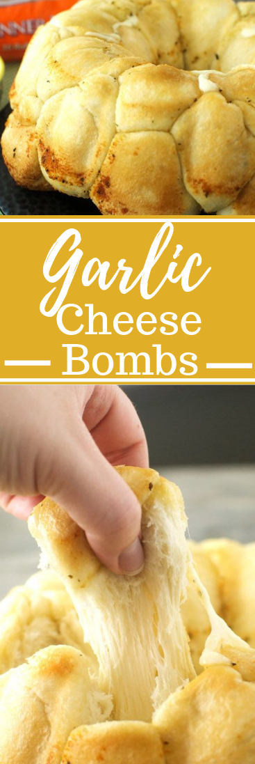 Garlic Cheese Bombs #dinner #cheese