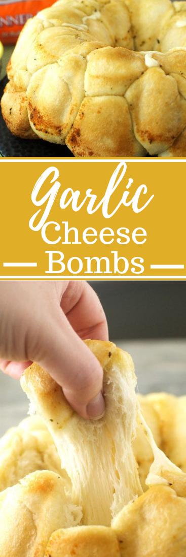 Garlic Cheese Bombs #dinner #cheese