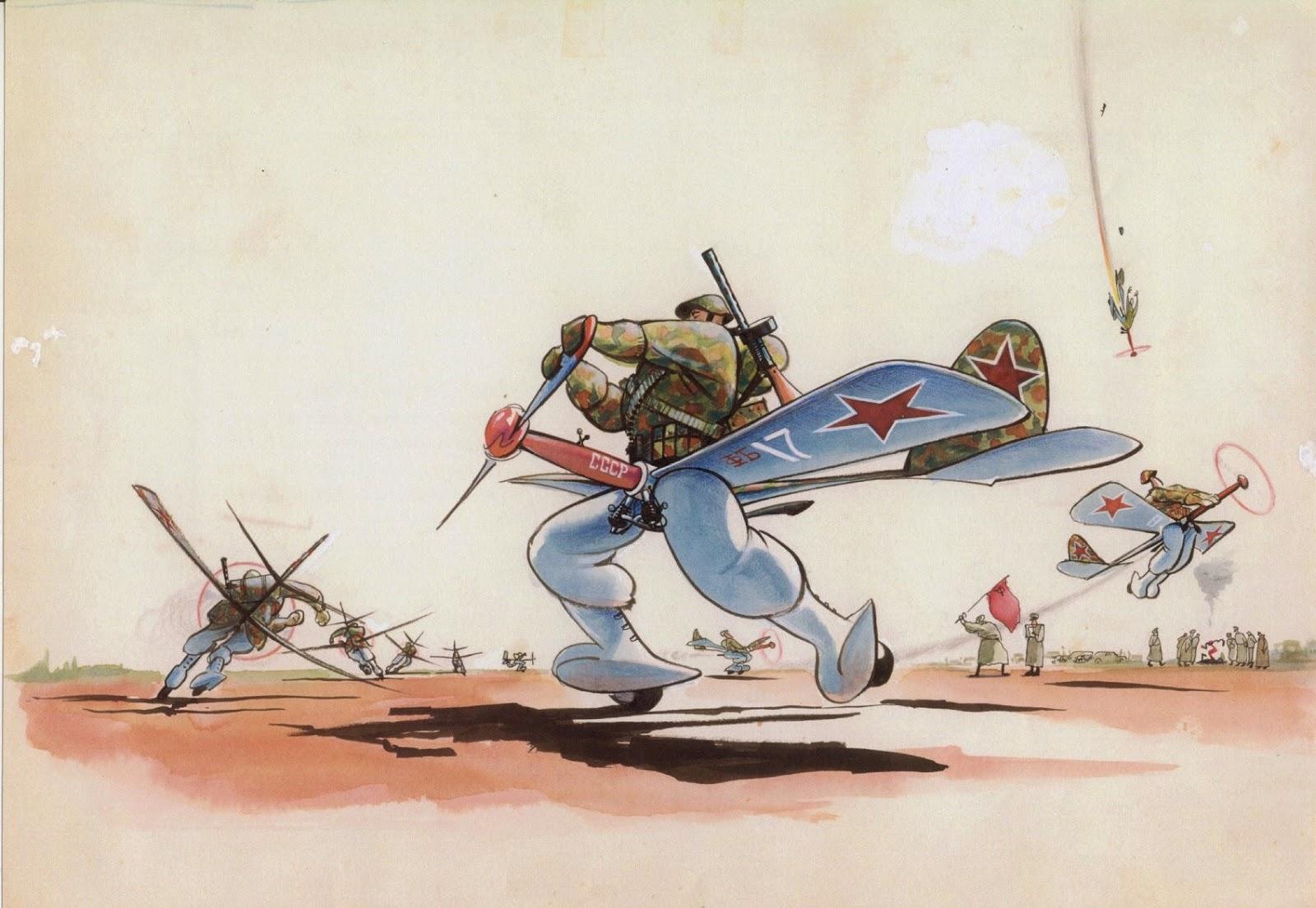 Смешные рисунки о летчиках, открытка