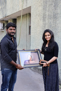 Keerthy Suresh with her Lucky Fan 3
