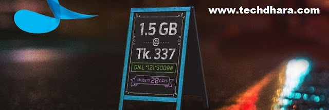 """Grameenphone 1.5 GB data at Tk. 337 offer for 1 month   Offer details: 1.5GB data pack is applicable for all GP prepaid & postpaid users. 1.5GB internet data offer is not applicable for """"skitto"""" users. This internet data pack is valid for 1 month. This offer validity includes the activation day. To check internet data remaining balance, customers need to dial *121*1*2# or *567# This pack price is inclusive of Supplementary Duty (SD), VAT and Surcharge (SC). To turn on auto-renewal feature after pack activation, type SMS 'on' and sent to 5000. Pay as you rate eligible (Tk. 0.80/MB up to Tk. 200; Supplementary Duty (SD), VAT and Surcharge (SC) applicable) in the case of unsuccessful auto renew. After the internet data volume expiration GP users will be charged BDT 0.01/KB (Till validity exists up to BDT 200) Unused internet data volume will be carried forward. The volume will only carry forward if users re-purchase the same offer within the validity offer period. This offer can be used 24 hours/7."""