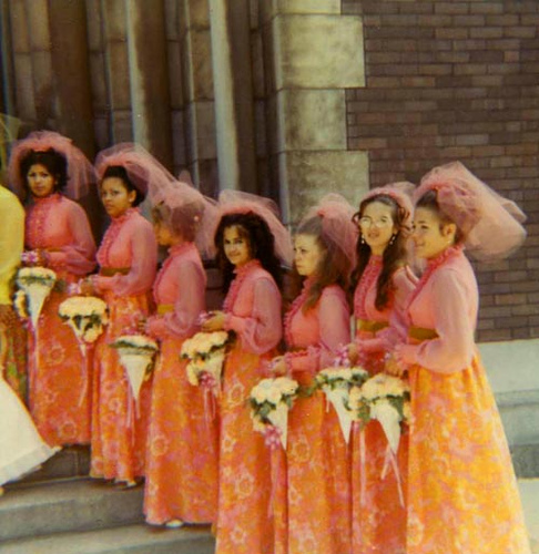 Most Ugly Wedding Dresses: Mighty Lists: 10 Hideous Bridesmaid Dresses