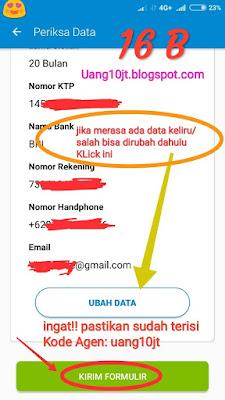 Pinjaman Tunaiku Kode Agen uang10jt Pinjaman Online terbaru syarat mudah