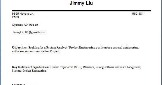 systems engineer resume biodata format in word free download