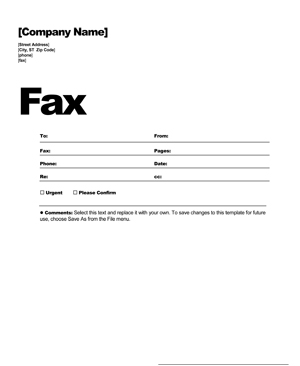 microsoft fax templates free download free fax cover sheet