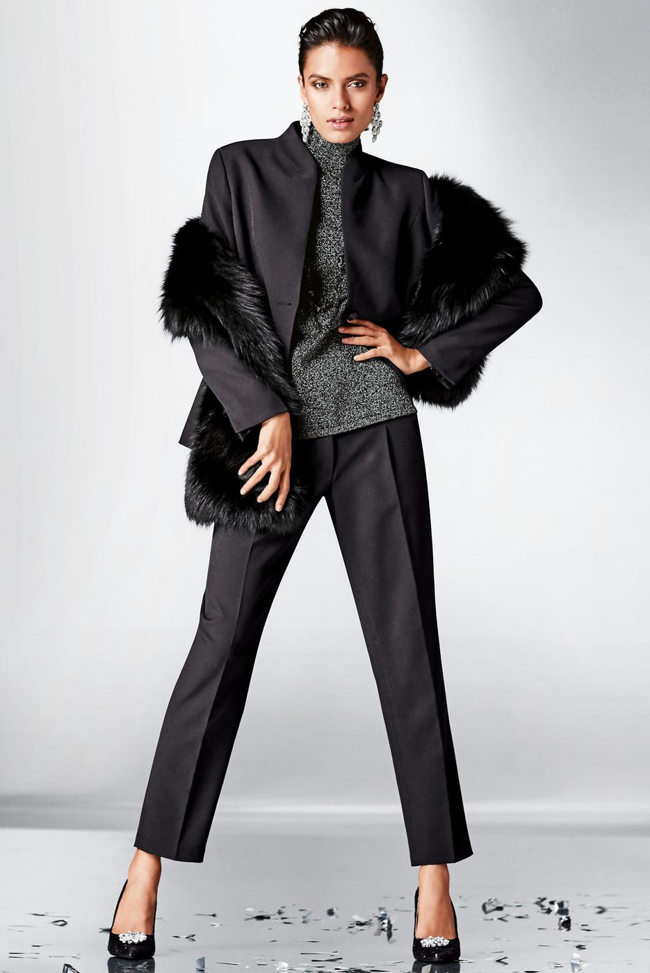 Madeleine Blazer and Fur Scarf
