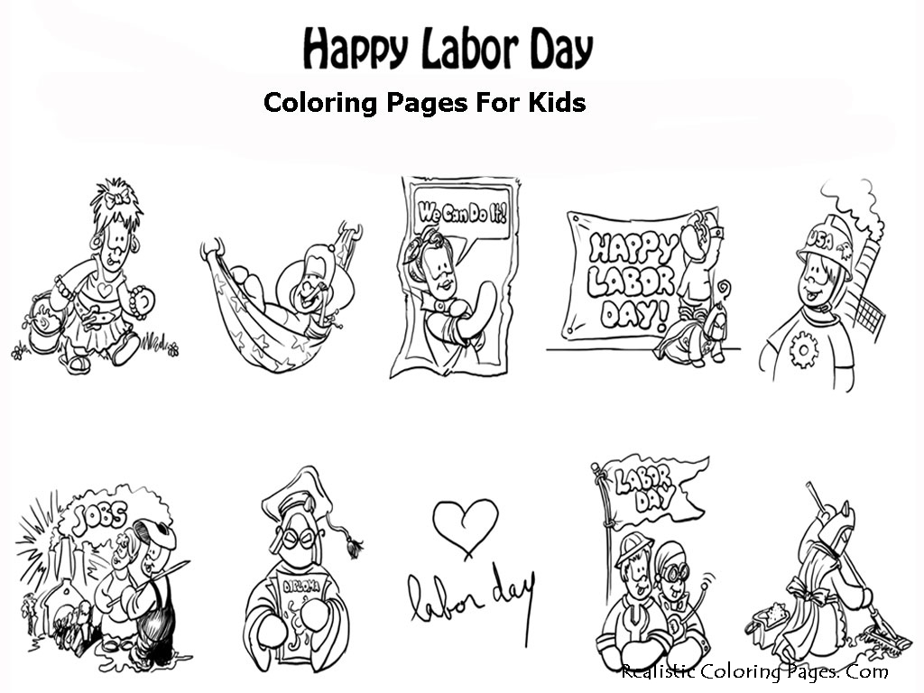 Labor Day Coloring Pages For Kids Realistic Coloring Pages