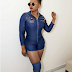 Yemi Alade  on hot with nice dress and step
