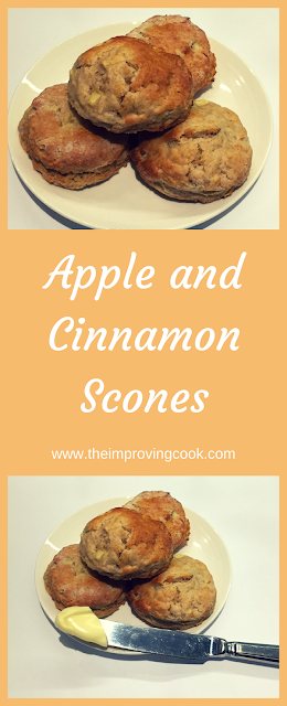 The Improving Cook Apple Cinnamon Scones pinnable image