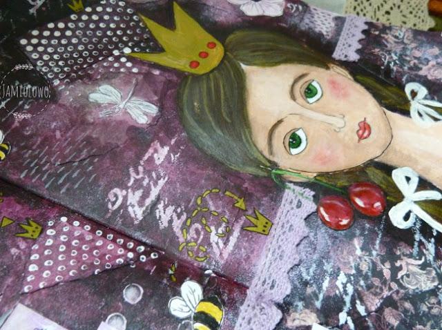 art journal -wspomnienie z dzieciństwa