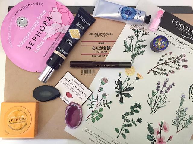 loccitane, sephora, muji, chelsea flower show, pretty, charlotte tilbury