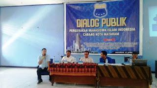 Jelang Mayday 2017, PMII Mataram Gelar Dialog