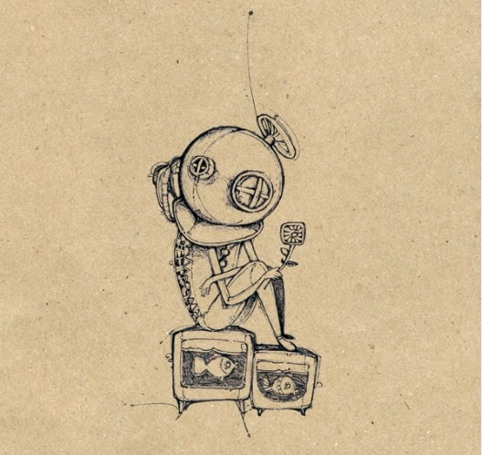 dibujo de escafandra