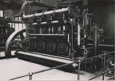 Filature Levavasseur sur l'Andelle - Fontaine-Guérard - Le moteur diesel (coll. personnelle)
