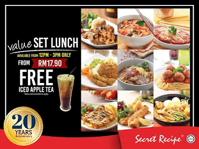 Secret Recipe Malaysia Value Set Lunch Free Iced Apple Tea Promo