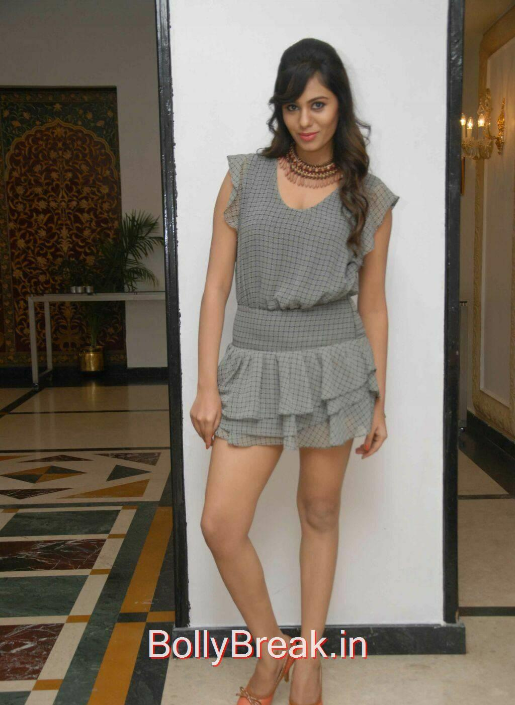 Deepa Sannidhi Stills, Deepa Sannidhi Hot Pics in Grey Colour Frock
