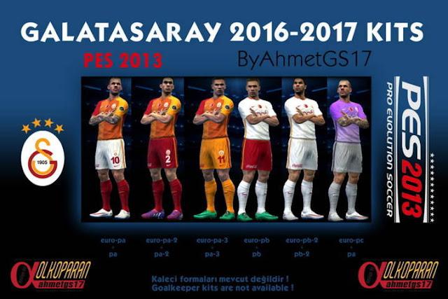 PES 2013 Galatasaray Kits Season 2016-2017
