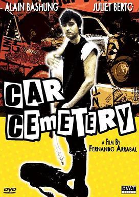 portada de la película Cementerio de automóviles, dirigida por Fernando Arrabal