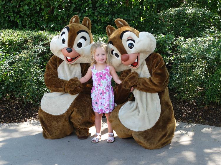 Walt Disney World's Epcot, Chip And Dale meet and greet