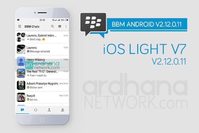 BBM iOS Light V7 - BBM Android V2.12.0.11